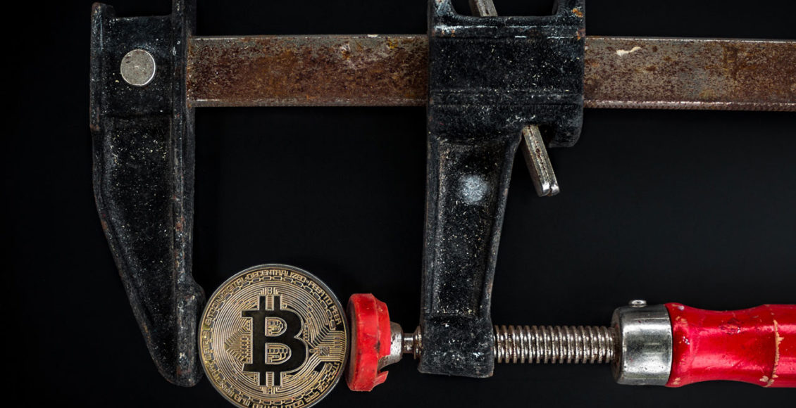 Bitcoin-in-der-Klemme