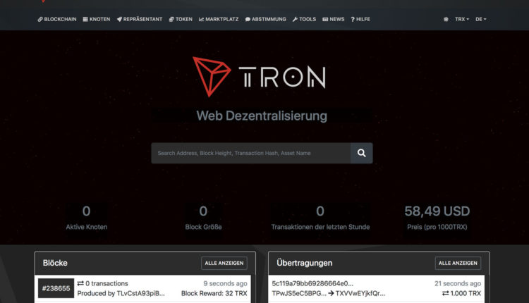 TRON-TRX-Wallet-erstellen
