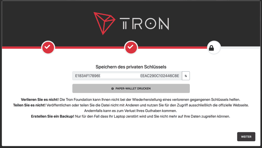 TRON-Wallet-Private-Key