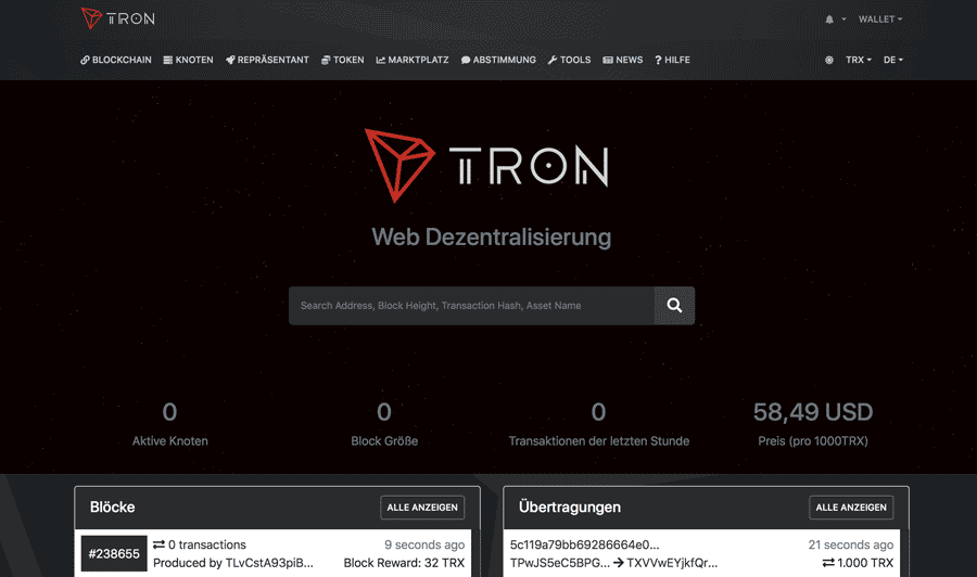 Tron-Explorer-Website