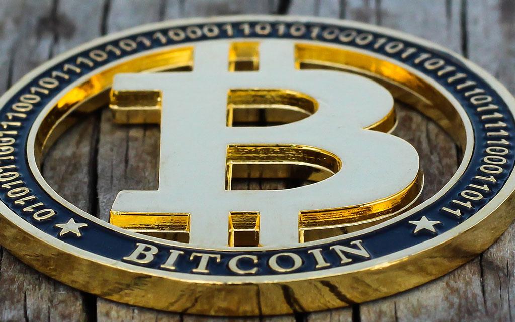 Bitcoin-Muenze Gold