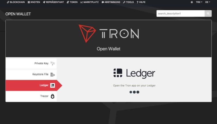 Tron-Wallet-Ledger-Nano-S