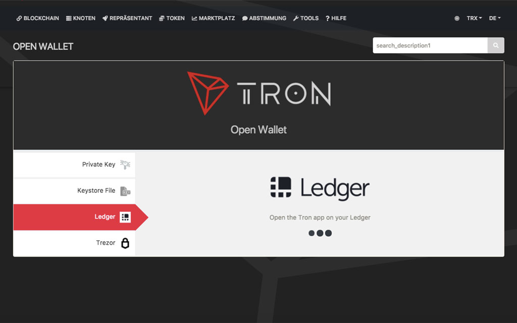 Tron-Wallet-Ledger-Nano-S