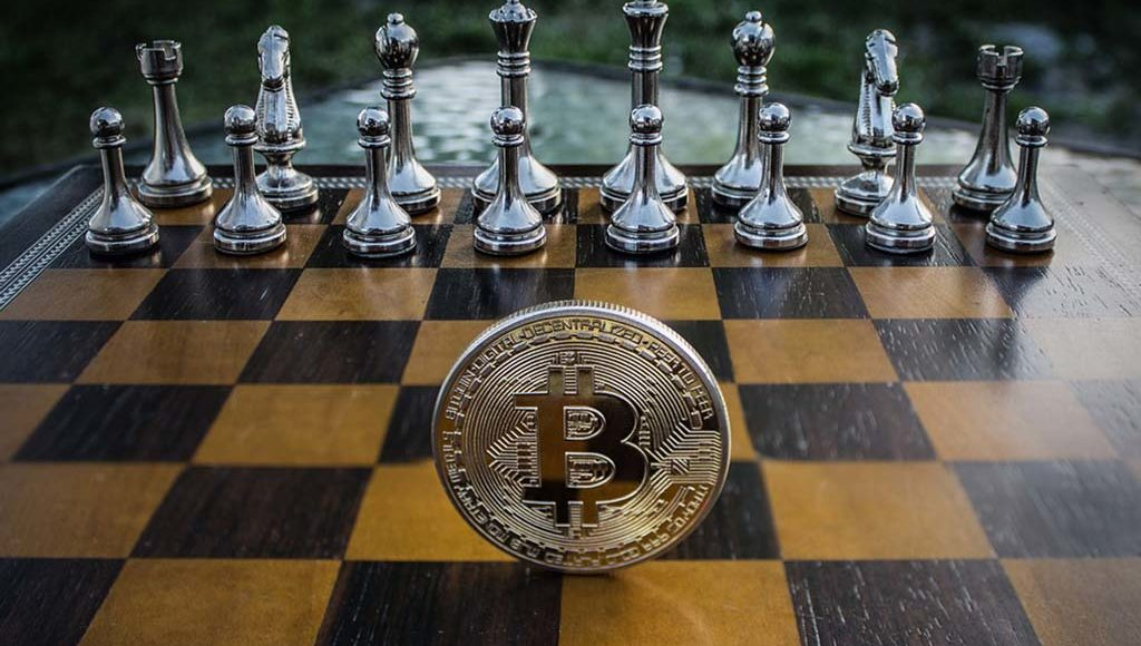 Bitcoin-Schachbrett
