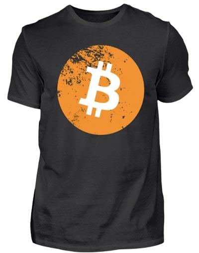 Bitcoin-T-Shirt-Grunge