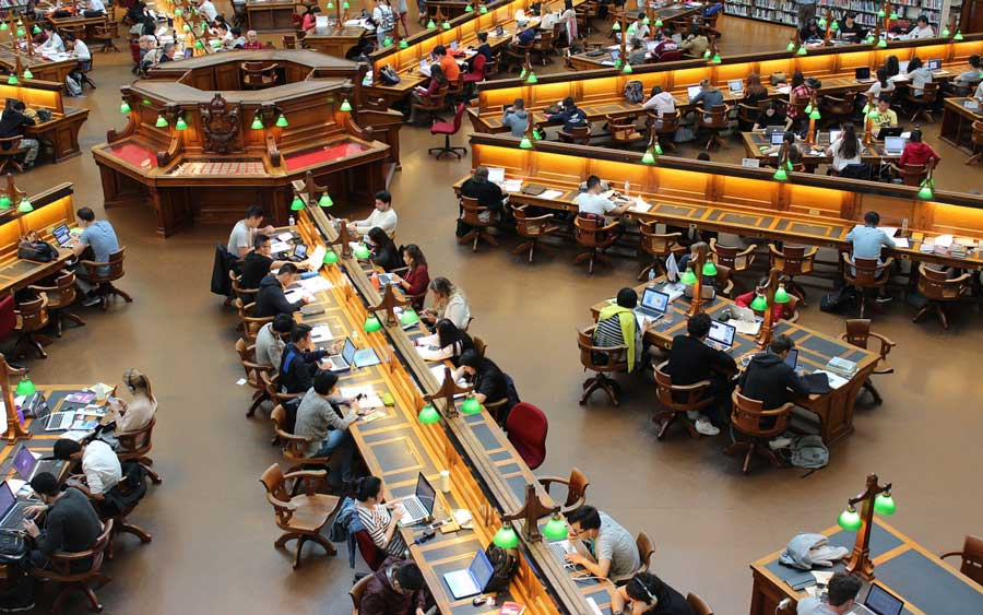 Studenten-in-der-Bibliothek
