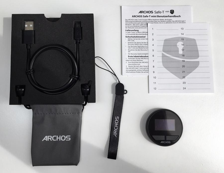 Archos-Safe-T-Mini-Hardware-Wallet-Lieferumfang