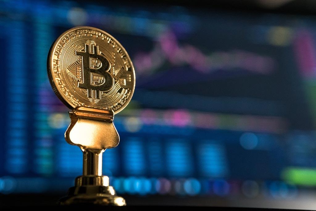 Bitcoin-Muenze-Trading-Chart