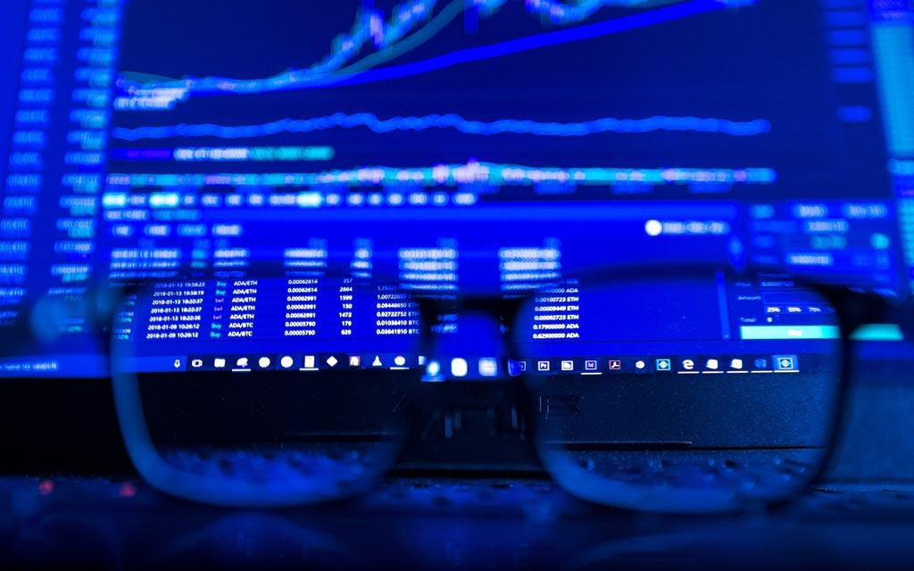 Trading-Chart-Blau