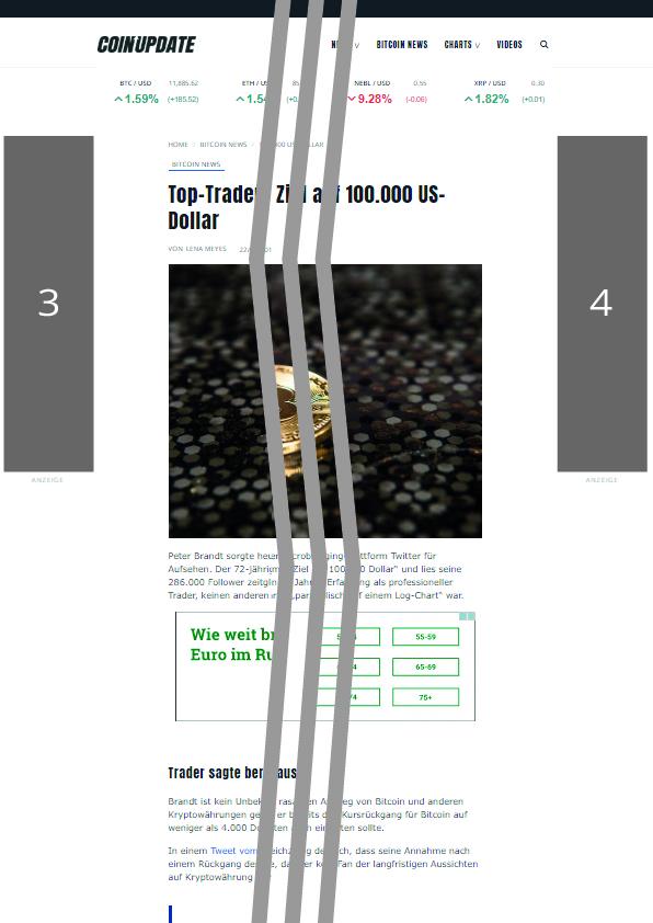 Coin-Update Werbeplatz #3 und #4