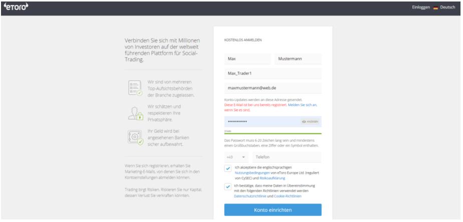 Dash kaufen bei eToro - User registrieren