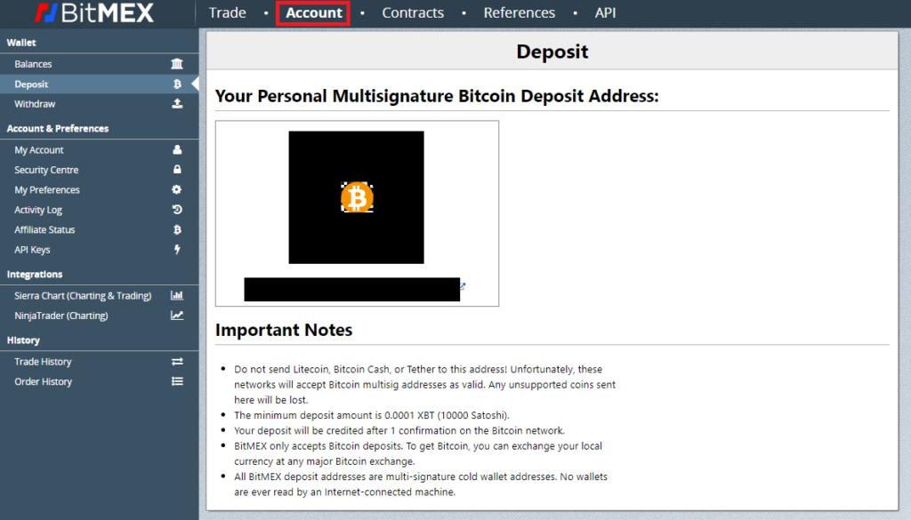 Bei Bitmex Bitcoin einzahlen