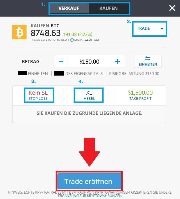 Bitcoin kaufen - Die Funktionen bei der Plattform eToro erklärt