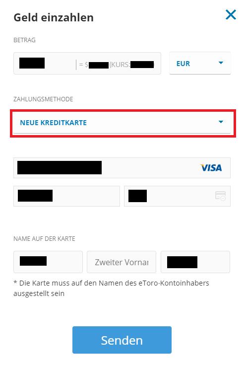 Bitcoin kaufen Kreditkarte - Einzahlung mit Kreditkarte bei eToro