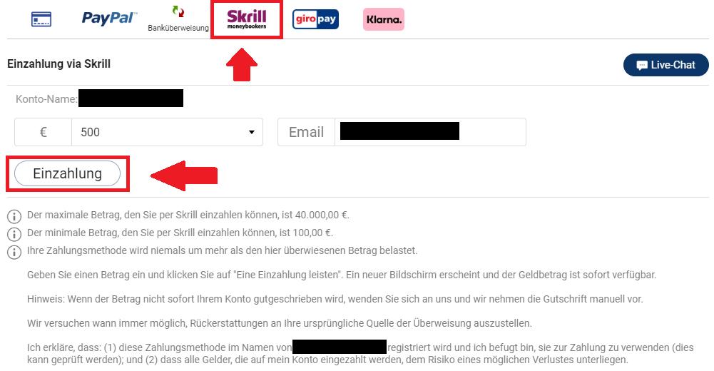 Plus500 BTC kaufen mit Skrill