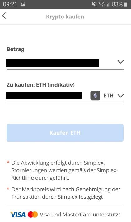 Kryptos mit Kreditkarte in der eToro Wallet kaufen