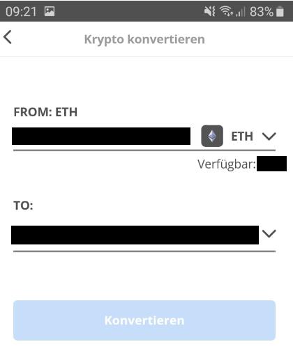 Kryptowährungen in der eToro Wallet konvertieren