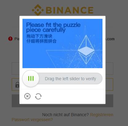 Binance Spam-Schutz