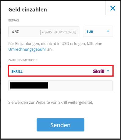 Zahlungsmethode Skrill bei eToro nutzen um Ethereum zu erwerben
