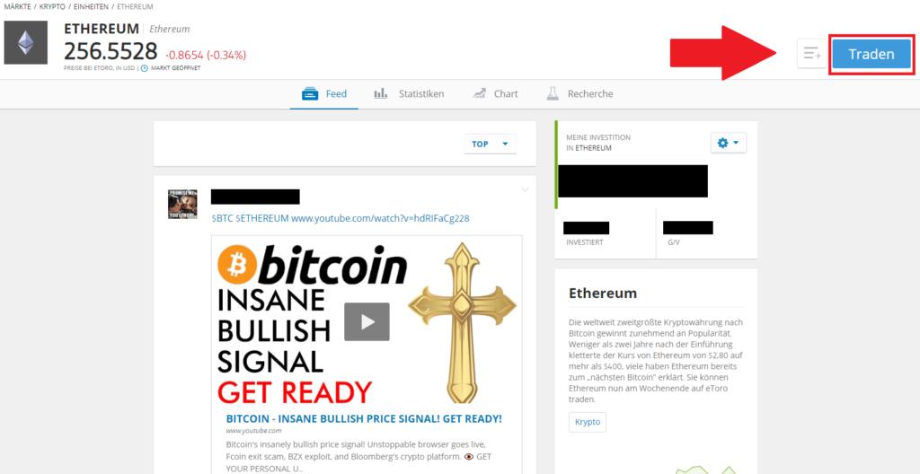 Ethereum kaufen Schnell Anleitung - Übersicht ETH beim Broker eToro