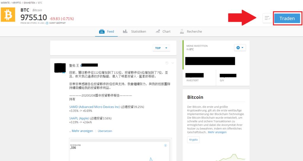 Button Krypto Traden - Kryptowährungen kaufen paypal