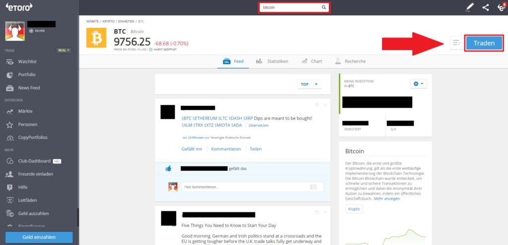 Schnellanleitung - Kryptowährungen kaufen PayPal - Button Traden
