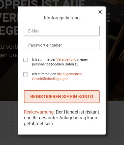 Libertex Registrierung