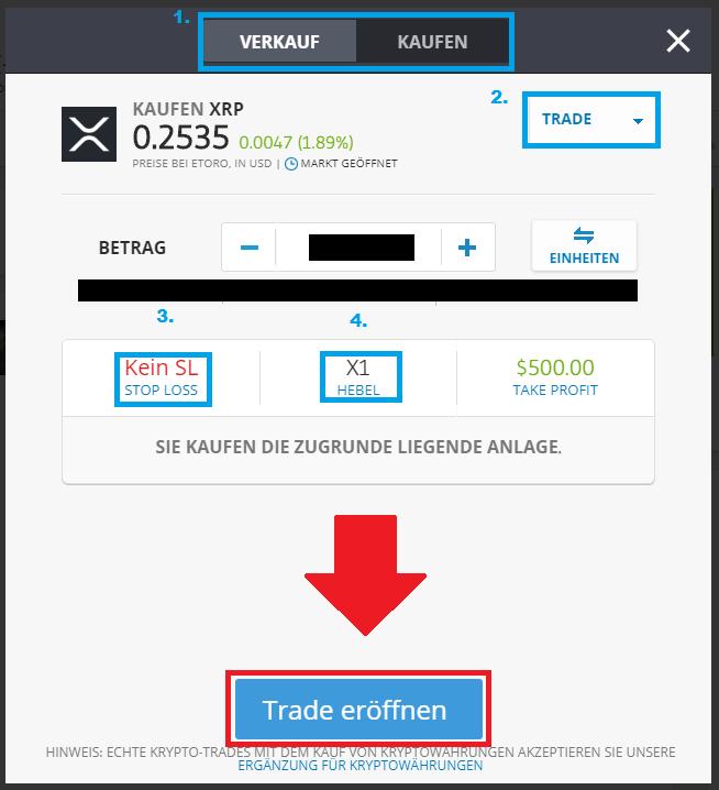 Ripple kaufen - Direkter Kauf bei eToro