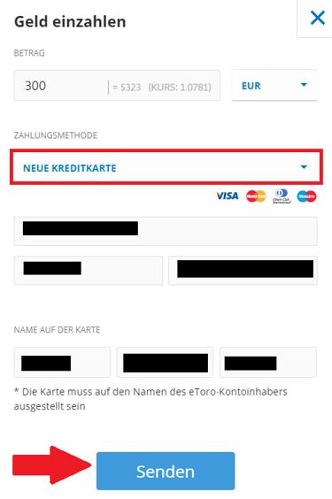 Ripple kaufen via Kreditkarte bei eToro