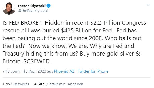 kiyosaki tweet