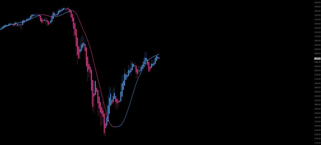 S&P 500-Baisse-Chart von Cold Blooded Shiller