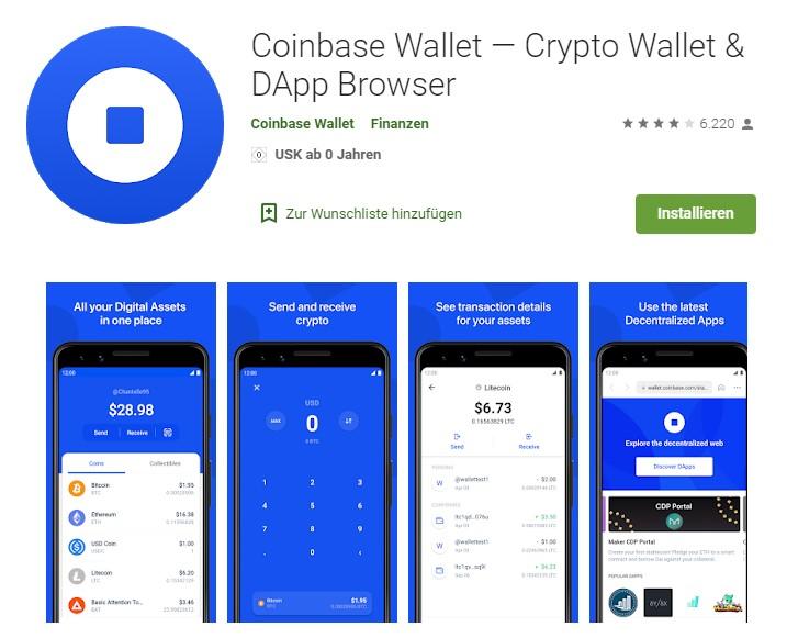 Das Coinbase Wallet