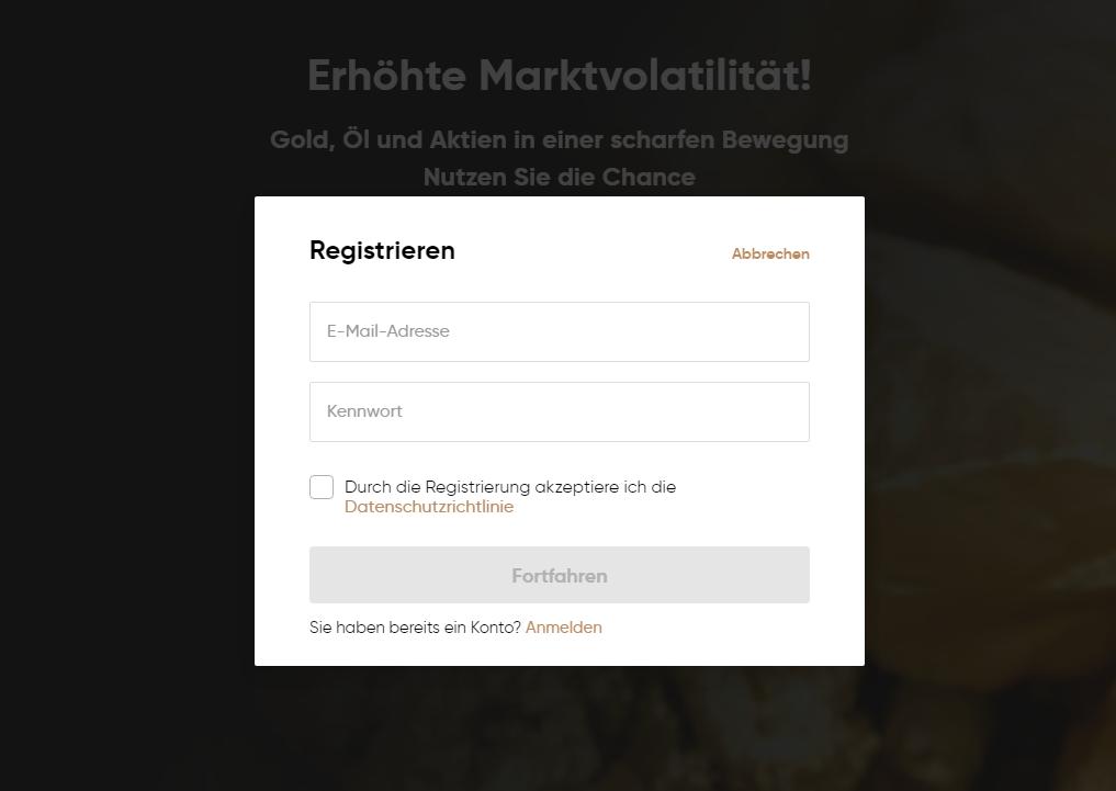 Registrierung Capital.com