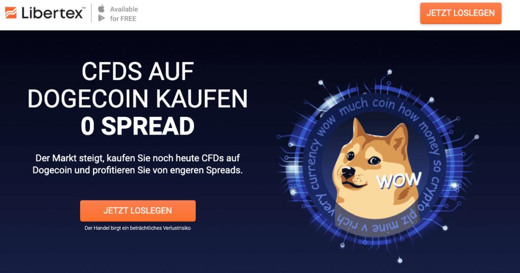 Dogecoin Landingpage - Libertex