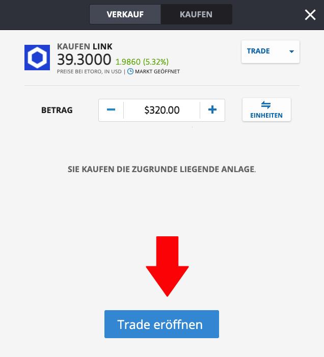 Chainlink kaufen via PayPal